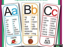 Alphabet Sight Word Posters (All 26 letters)