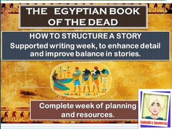 Egyptian themed  narrative writing.  COMPLETE WEEK of planning and resources.