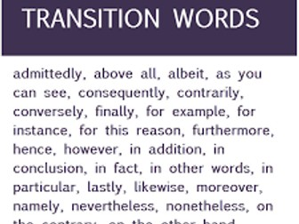 Transition words