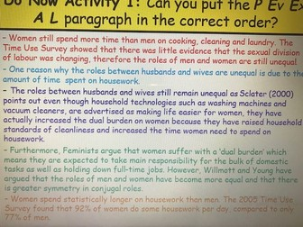 Year 13 Sociology Family Revision - Conjugal Roles