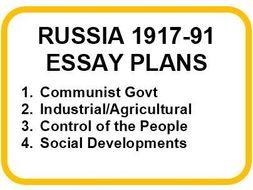 RUSSIA 1917-91 ESSAY PLANS