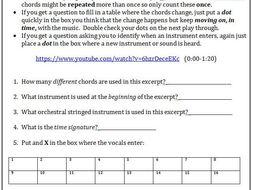 AQA Music (new spec) Listening practice questions