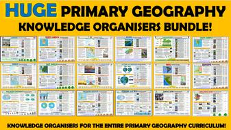 Huge Primary Geography Knowledge Organisers Bundle!