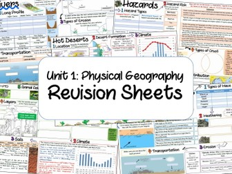 NEW 9-1 - Physical Geography Revision Sheets