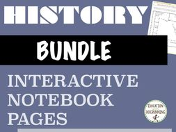 World History Interactive Notebook Pages: 11 sets! Ancients to Renaissance