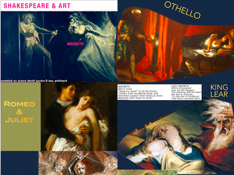 Shakespeare in Visual Arts Presentation ~ Art History & Literature ~ 108 Slides