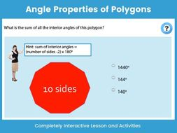 Polygons - Year 8, Key stage 3