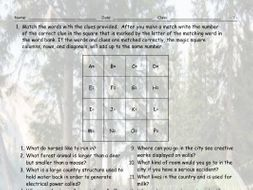 City-Country Living Magic Square