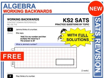 KS2 Maths (Working Backwards)