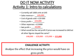 Profit And Loss Statement Of Comprehensive Income Complete Differentiated Lesson 16