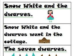 Sentence Center: Sentence/Not a Sentence: Snow White Themed