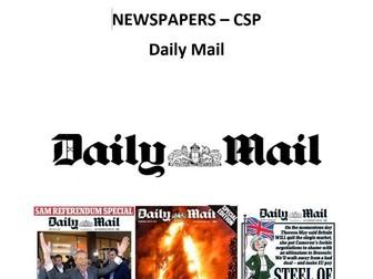 AQA A Level Media Studies - Daily Mail CSP
