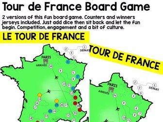 French Board Game: Tour de France (plus free video)