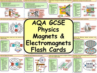AQA KS4 GCSE Physics (Science) Magnets & Electromagnets Revision Flashcards