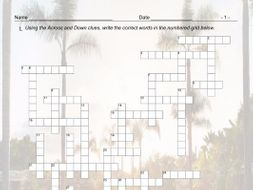 Airports and Hotels Crossword Puzzle