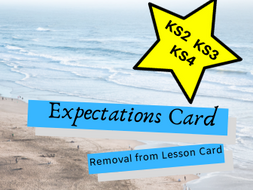 Expectations Card (removal from lesson card)