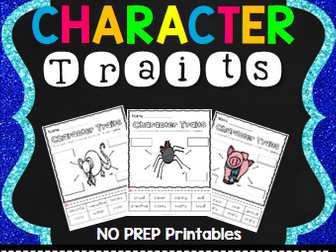 Charlotte's Web Character Trait Activities