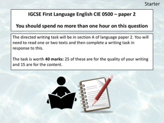 Cambridge IGCSE 0500  - Directed Writing