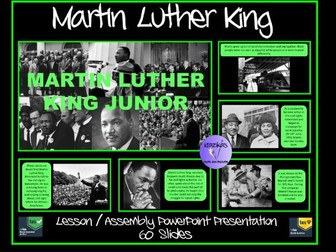 Martin Luther King: PowerPoint Presentation - Ideal for Martin Luther King Day