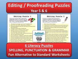Editing / SPaG Year 5 / 6 by FullShelf - Teaching Resources - Tes