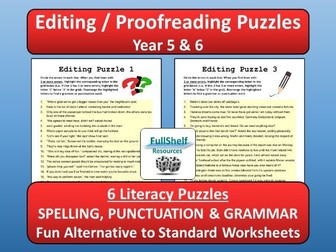 Editing / Proofreading SPaG Year 5 / 6