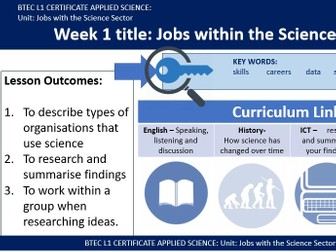 BTEC Applied Science - Careers and Jobs