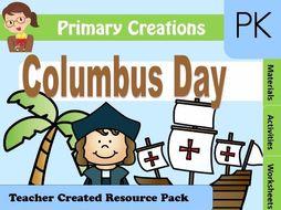 Christopher Columbus PreK Activities Pack (USA Edition)