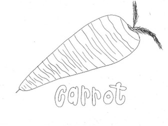 Carrot:  Colouring Page