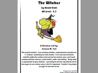 The Witches Reading - Comprehension Guide - Literature Unit