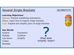 Algebra 19/31 Several Single Brackets