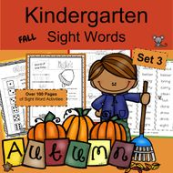 Kindergarten Sight Words- FALL