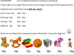 maths money finding change ks1 ks2 addition subtraction by goldstarteach teaching resources. Black Bedroom Furniture Sets. Home Design Ideas
