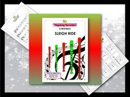 "Playalong Christmas Recorders ""SLEIGH RIDE"""
