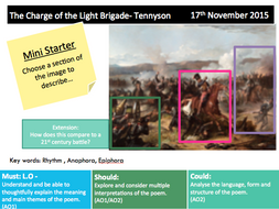 The Charge of The Light Brigade -  Revision