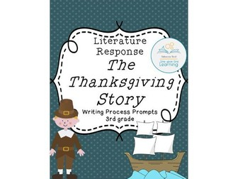 Writing Process Prompts for The Thanksgiving Story by Dagliesh