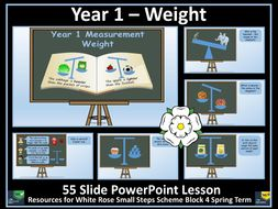 Weight and Mass - Year 1 - PowerPoint Lesson - White Rose Maths