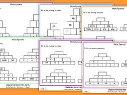 maths number pyramid worksheets by classroomsecrets  teaching  maths number pyramid worksheets by classroomsecrets  teaching resources   tes