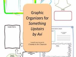 Graphic Organizers Plus Crossword Puzzles  for Something Upstairs