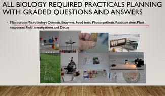 All Biology Planning Practicals with Graded Questions and Answer