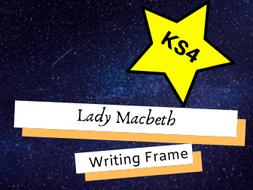 GCSE English Lady Macbeth Writing Frame