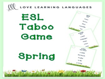 ESL - SPRING Vocabulary Taboo Game
