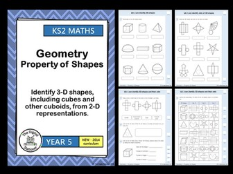 Year 5 -  Identify 3D shapes, cubes & cuboids from 2D  rep. -Geometry White Rose (INC. MASTERY)