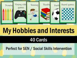 40 Hobbies and Interests Cards