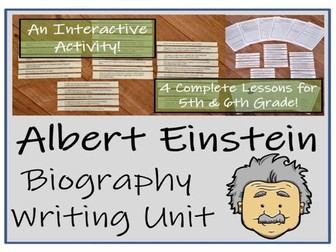UKS2 Literacy - Albert Einstein Biography Writing Unit