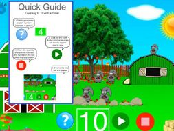Counting to 10 with Timer.  Interactive PDF