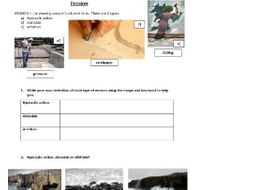 AQA Unit 1C revision weathering, erosion, mass movement