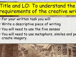 KS3 Reading Analysis and Creative Writing Pack