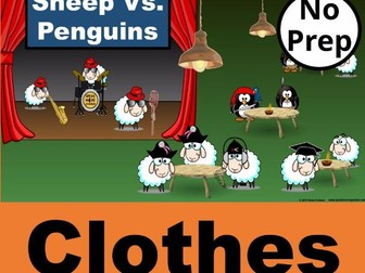 ESL Interactive PowerPoint Games.  Spelling and English Games for CLOTHES Vocabulary.
