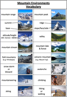 Mountain-Environments---vocabulary-page.pptx