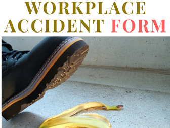 Health and Safety Form - Use to fill out the details of an Incident / Accident in the Workplace